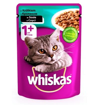 Консерва Whiskas Кролик у білому соусі для дорослих котів 100г
