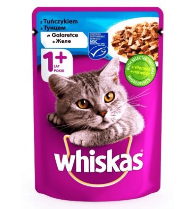 Корм для дорослих котів Whiskas з тунцем в желе 100г
