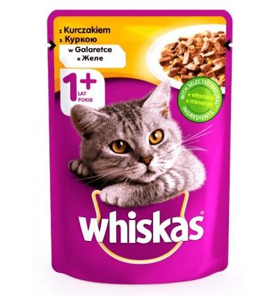 Корм для котів Whiskas з куркою в желе 100г