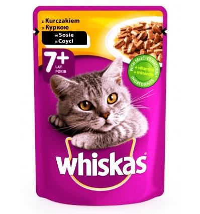 Корм Whiskas для котів з куркою в соусі 100г
